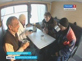 Более ста пунктов обогрева развернуты на трассах в Ставропольском крае