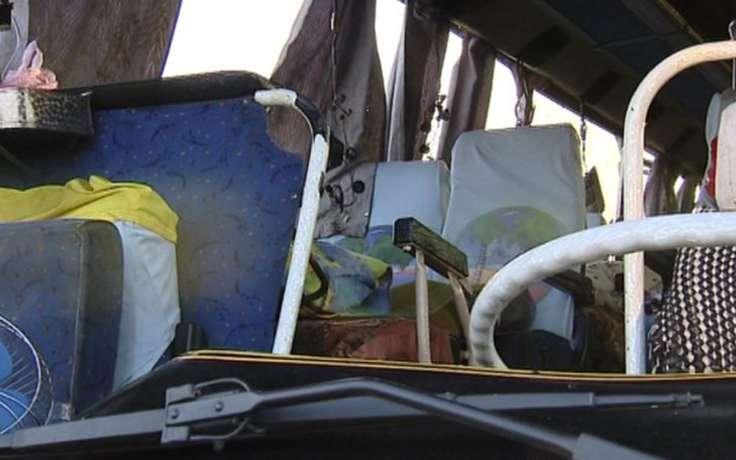 Ветер опрокинул автобус Москва-Кисловодск на трассе в Ростовской области