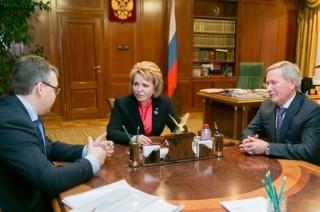 Валентина Матвиенко и губернатор Ставрополья обсудили перспективы развития региона