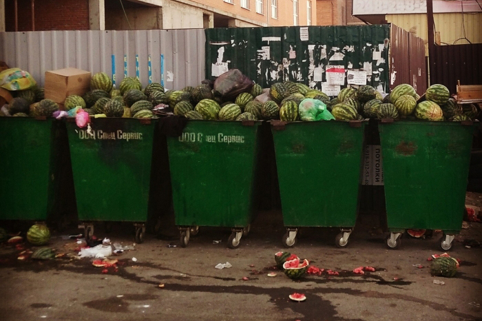 Долой арбузные подтеки на мусорных площадках!