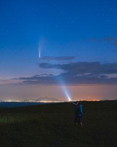 Комету, видевшую наших пещерных предков, запечатлели над Кавминводами(0+)