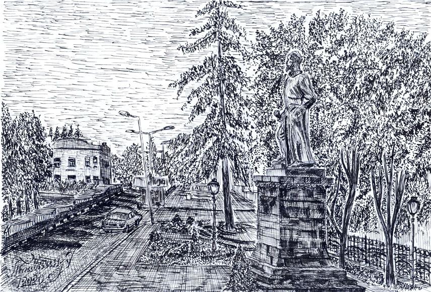 Алексей ТРАВКИН. Сквер на проспекте Дзержинского