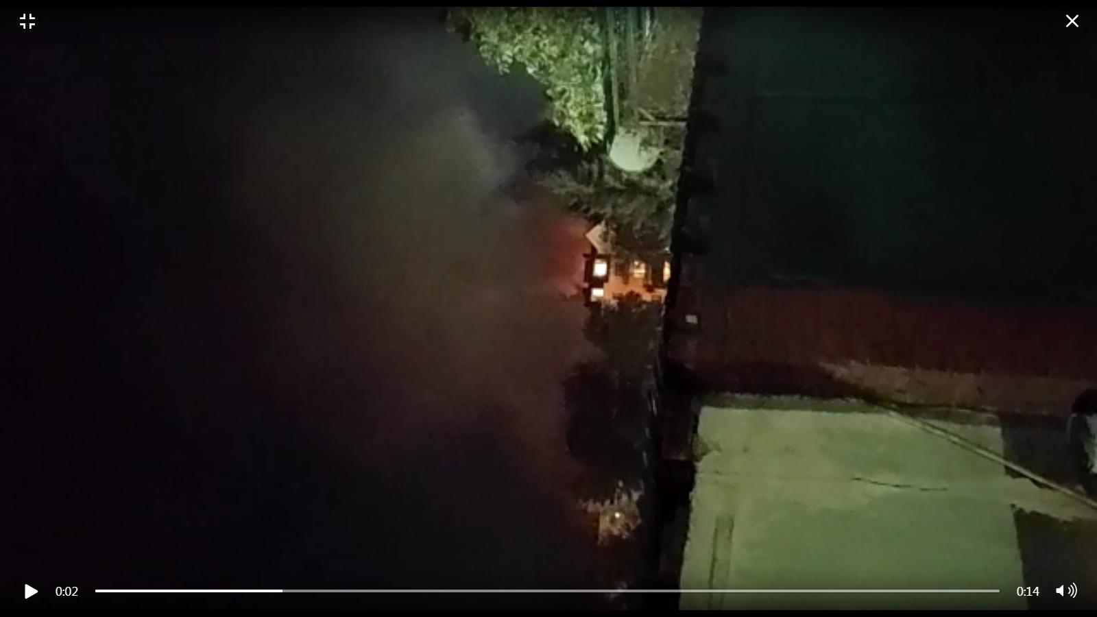 Пожар в Кисловодске в районе Каскадной лестницы