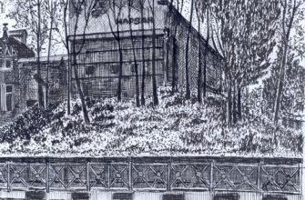 Кисловодск глазами художника. Здание бальнеогрязелечебницы (БФО) на углу улицы Вокзальной и проспекта Первомайского
