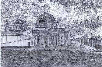 Кисловодск глазами художника. Мечеть по улице Кольцова