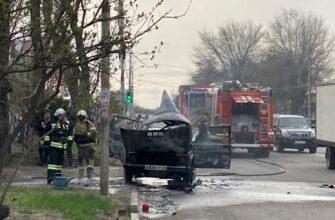 В Пятигорске на улице Мира сгорел автомобиль