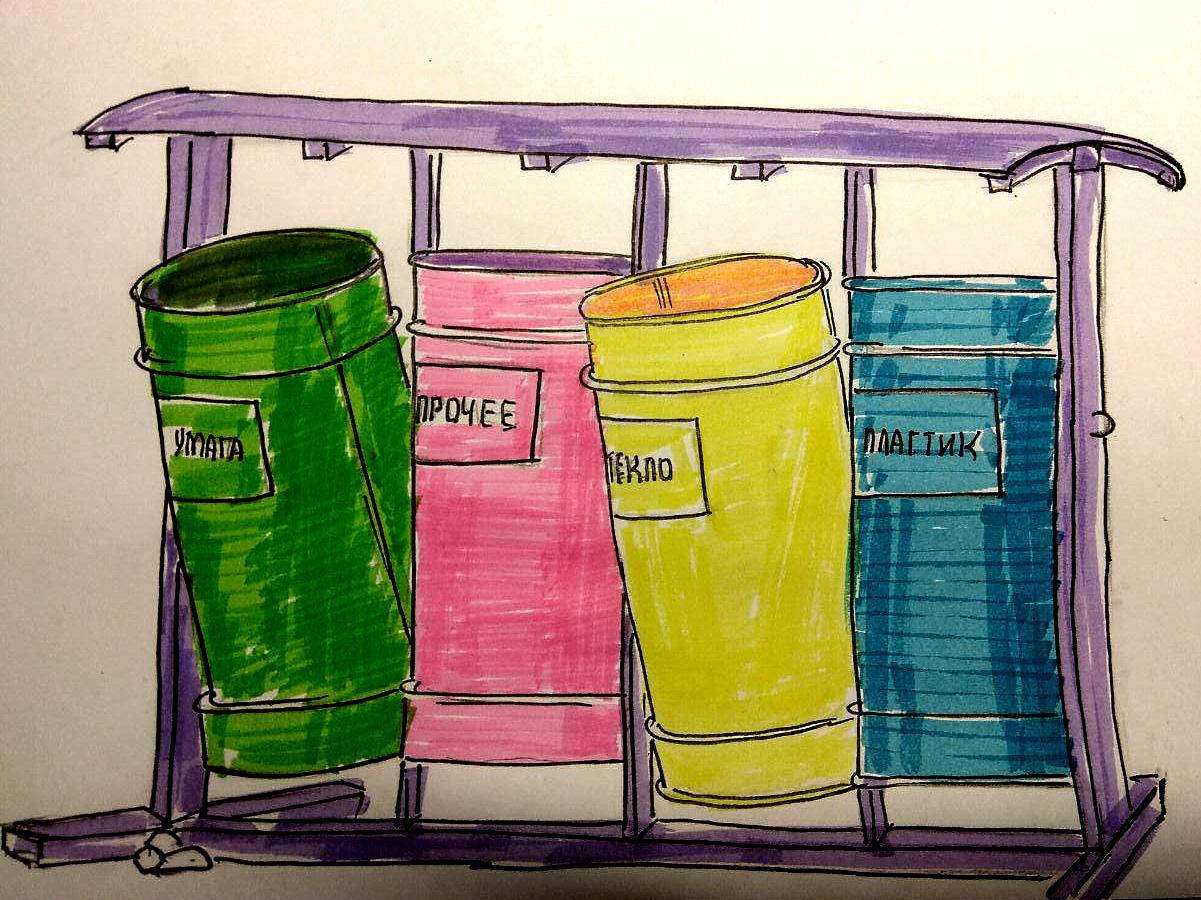 Эксперимент! Что попадает в контейнеры  для раздельного сбора мусора?