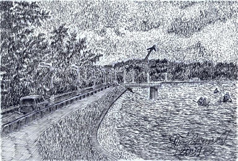Ностальгия по Старому озеру. Фантазия художника.