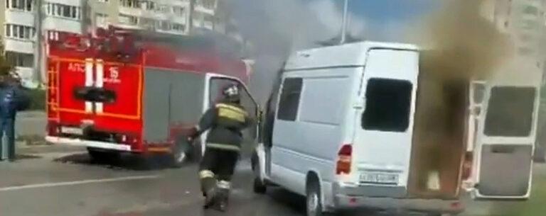В Пятигорске на проспекте Калинина горел автомобиль