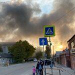 В Пятигорске очередной пожар: загорелась крыша нежилого дома